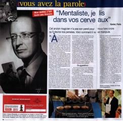 2012 10 26 article-sur-le-magicien-mentaliste-xavier-nicolas-dans-france-dimanche