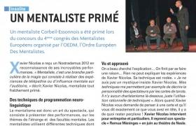 2012 06 01 Article Vivre a Corbeil sur le mentaliste Xavier Nicolas