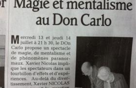 2011 07 13 Le mentaliste Xavier Nicolas en Spectacle à Saint Agreve