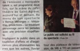 2011 07 14 Le mentaliste Xavier Nicolas en Spectacle à Saint Agreve