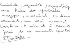 Critiques soiree Orange Trianon Palace Mireille Bertaux
