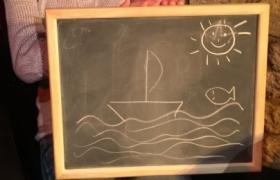Un bateau à deviner par télépathie lors du spectacle de mentalisme Remue Méninges