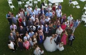 Photo aerienne de mariage par drone
