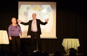 Spectacle de mentalisme Remue Meninges au theatre de Forge les bains (45)
