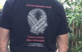 Tee shirt Mentaliste Noir Xavier Nicolas