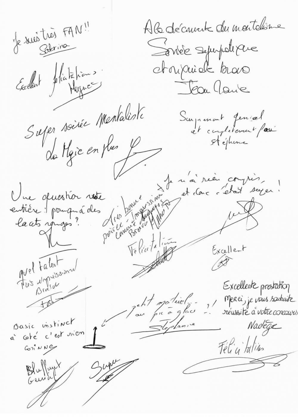 Critiques sur un magicien mentaliste à Clairefontaine FFF pour la societe DIELNA