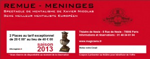 Tarif Reduit Magiciens fr1 300x119 Calendrier des représentations de Xavier Nicolas   Magicien Mentaliste